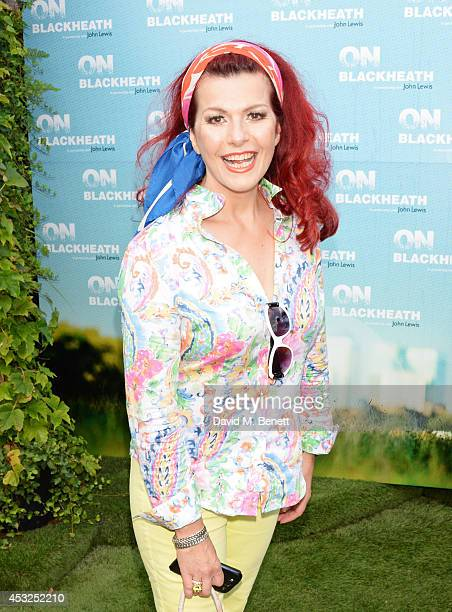 Cleo Rocos attends the summer launch party of the OnBlackheath Festival in partnership with John Lewis on the John Lewis Roof Gardens Oxford Street...