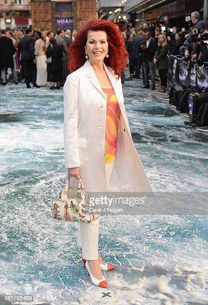 Cleo Rocos attends the UK Premiere of Noah at the Odeon Leicester Square on March 31 2014 in London England