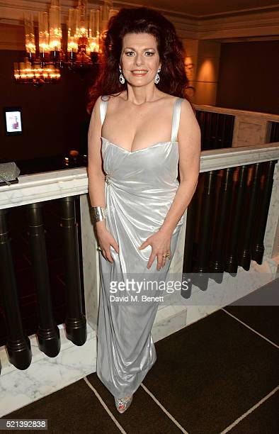 Cleo Rocos attends the Winq Spring Ball in aid of the Elton John Aids Foundation at Rosewood London on April 15 2016 in London England