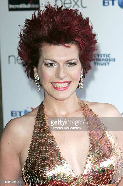 Cleo Rocos during Cystic Fibrosis Trust Breathing Life Awards – Red Carpet Arrivals at Hilton London Metropole in London Great Britain