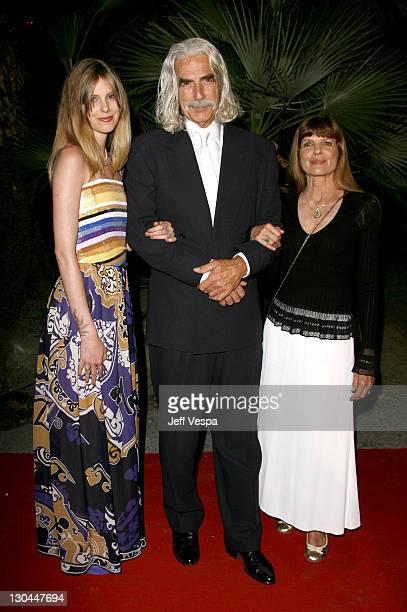 "Cleo Rose Elliott, Sam Elliot and Katherine Ross during 2007 Cannes Film Festival - New Line 40th Anniversary ""Golden Compass"" Party in Cannes,..."