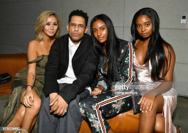 Cleo Vauban Rashad Haughton Sydney Harper and Akila Releford attends MAC Cosmetics Aaliyah Launch Party on June 14 2018 in Hollywood California