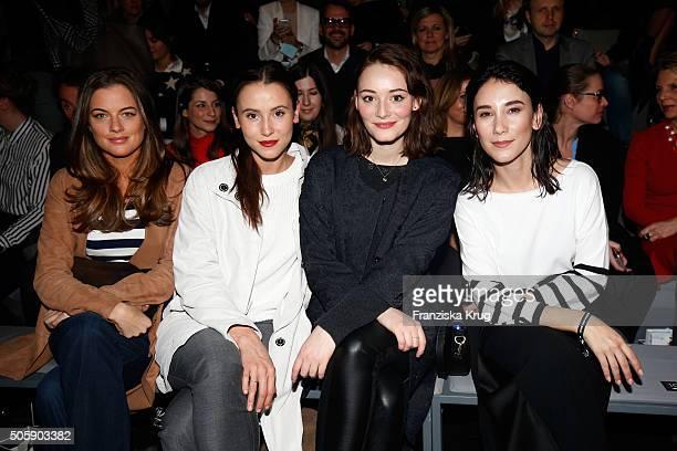 Cleo von Adelsheim Peri Baumeister Maria Ehrich and Sibel Kekilli attend the Laurel show during the MercedesBenz Fashion Week Berlin Autumn/Winter...