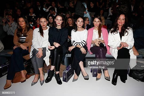 Cleo von Adelsheim Peri Baumeister Maria Ehrich Sibel Kekilli Mina Tander and Natalia Woerner attend the Laurel show during the MercedesBenz Fashion...
