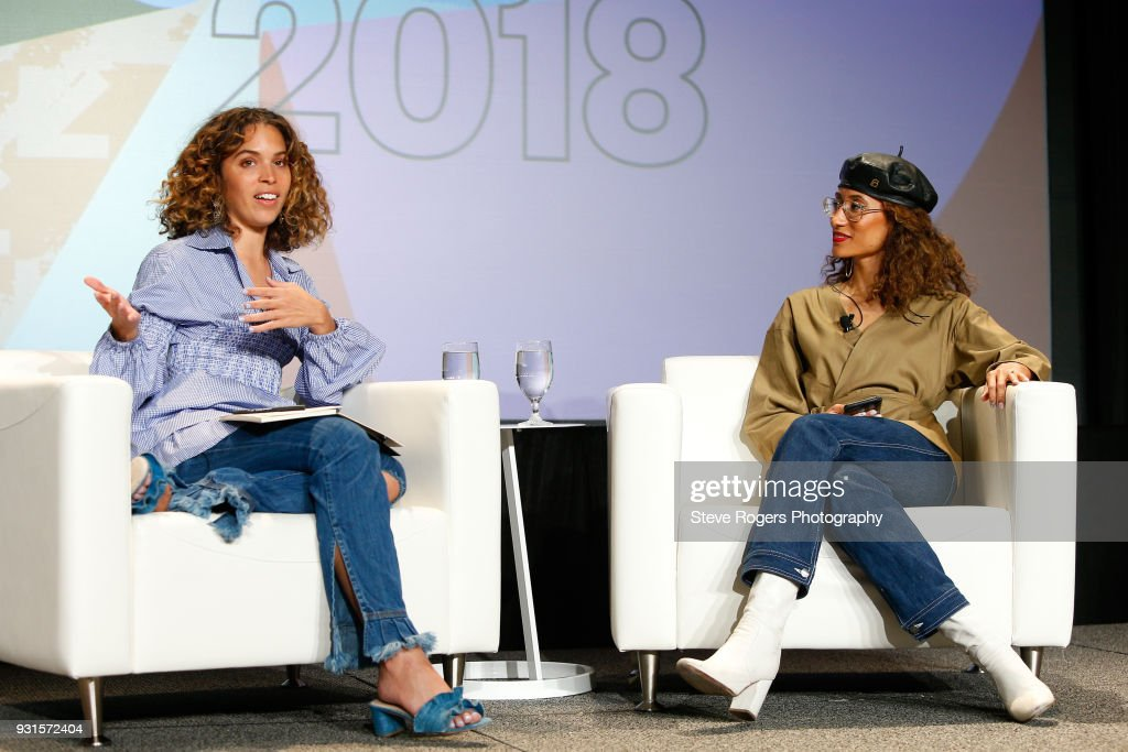 Cleo Wade and Elaine Welteroth speak onstage at TRIBE BUILDING 2.0: Engaging a Conscious Community Online & IRL during SXSW at Austin Convention Center on March 13, 2018 in Austin, Texas.
