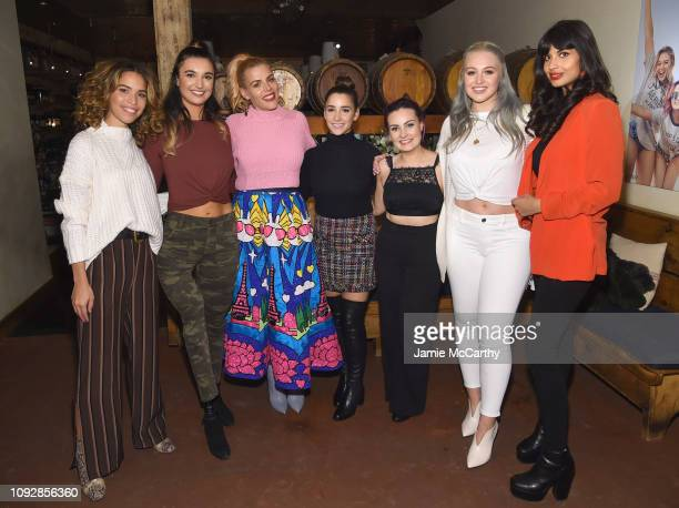 Cleo Wade Brenna Huckaby Busy Phillips Aly Raisman Iskra Lawrence and Jameela Jamil pose at Aerie Celebrates #AerieREAL Role Models In NYC on January...