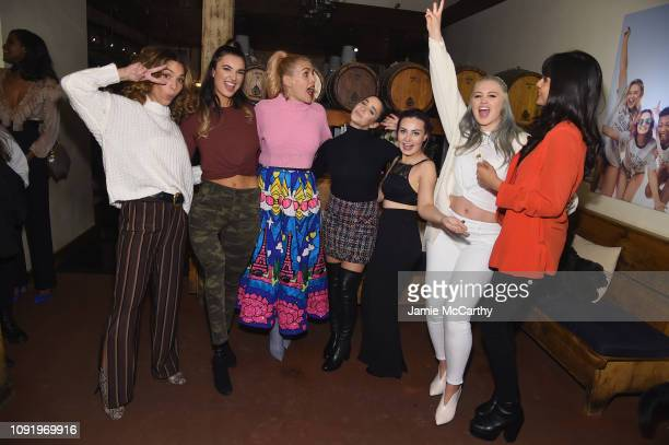 Cleo Wade Brenna Huckaby Busy Phillips Aly Raisman Molly Burke Iskra Lawrence and Jameela Jamil attend as Aerie celebrates #AerieREAL Role Models in...