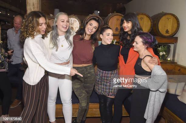 Cleo Wade Iskra Lawrence Brenna Huckaby Aly Raisman Jameela Jamil and Molly Burke attend as Aerie celebrates #AerieREAL Role Models in NYC on January...