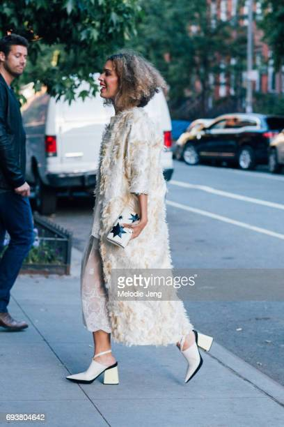 Cleo Wade outside the Stella McCartney Spring 18 presentation on June 8 2017 in New York City