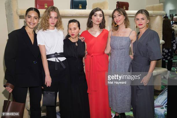 Cleo Wade Petra Collins Olivia Kim Rowan Blanchard Gia Coppola and Nathalie Love attend the Celine Nordstrom PopUp at Nordstrom on February 15 2018...
