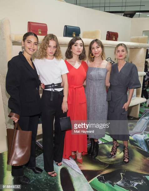 Cleo Wade Petra Collins Rowan Blanchard Gia Coppola and Nathalie Love attend the Celine Nordstrom PopUp at Nordstrom on February 15 2018 in Seattle...