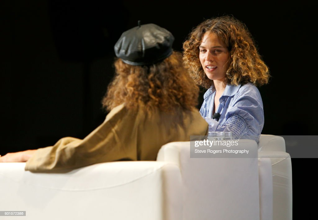 Cleo Wade (R) speaks onstage at TRIBE BUILDING 2.0: Engaging a Conscious Community Online & IRL during SXSW at Austin Convention Center on March 13, 2018 in Austin, Texas.
