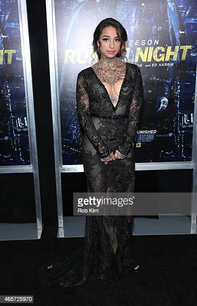 Cleo Wattenstrom attends Run All Night New York premiere at AMC Lincoln Square Theater on March 9 2015 in New York City