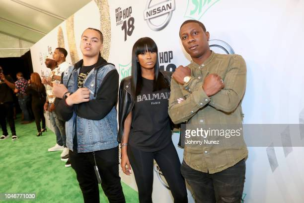 Cleopatra and guest arrive at the BET Hip Hop Awards 2018 at Fillmore Miami Beach on October 6 2018 in Miami Beach Florida