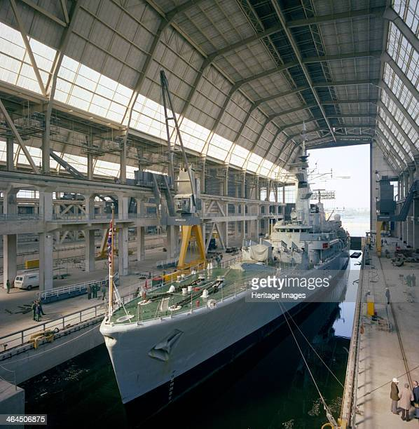 HMS 'Cleopatra' at Devonport frigate complex Plymouth Devon 1977 The Devonport frigate complex was completed in 1977 and continues to provide a...