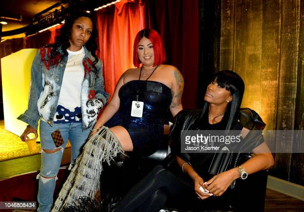 Cleopatra Bernard and guests attend the BET Hip Hop Awards 2018 PreReception at Fillmore Miami Beach on October 6 2018 in Miami Beach Florida