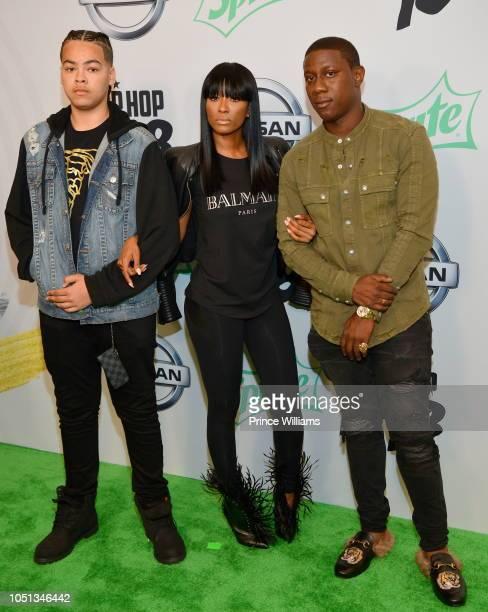 Cleopatra Bernard arrives at the BET Hip Hop Awards 2018 at Fillmore Miami Beach on October 6 2018 in Miami Beach Florida