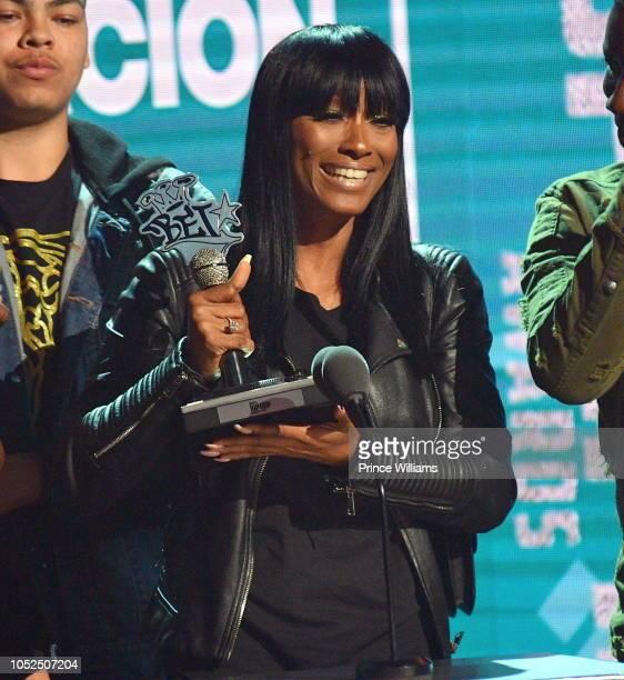 Cleopatra Bernard attends at the BET Hip Hop Awards 2018 at Fillmore Miami Beach on October 6 2018 in Miami Beach Florida