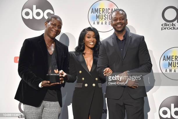 Cleopatra Bernard mother of XXXTentacion and Guests attend the 2018 American Music Awards Press Room at Microsoft Theater on October 9 2018 in Los...
