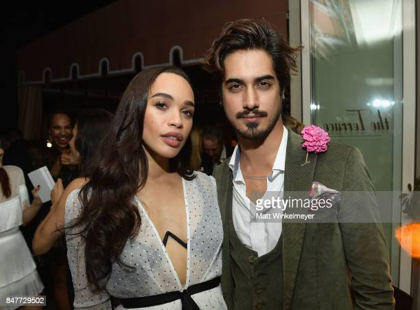 Cleopatra Coleman and Avan Jogia attend the 2017 Entertainment Weekly PreEmmy Party at Sunset Tower on September 15 2017 in West Hollywood California
