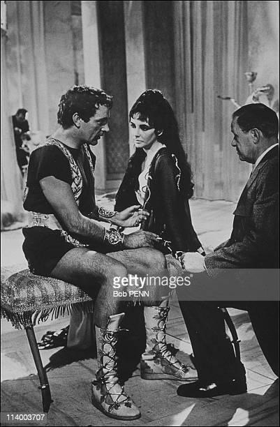 'Cleopatra' of Joseph L Mankiewicz In United States In 1963Liz Taylor Richard Burton Joseph Mankiewicz