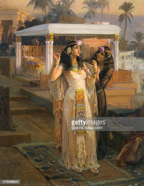 Cleopatra on the Terraces of Philae 1896 by Frederick Arthur Bridgman oil on canvas 75x117 cm 19th century New York Dahesh Museum Of Art