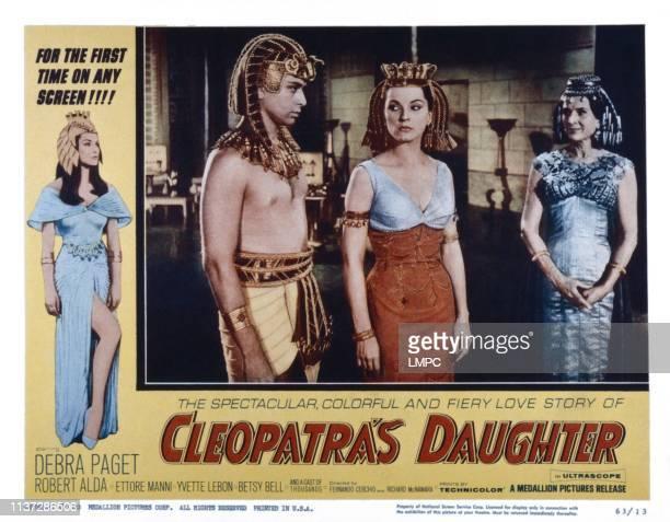 Cleopatra's Daughter lobbycard from left Corrado Pani Debra Paget Yvette Lebon 1960