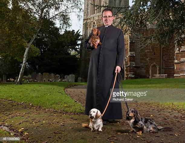 Cleric and broadcaster Richard Coles is photographed for the Observer on October 16, 2014 at St Mary the Virgin church, Finedon, England.