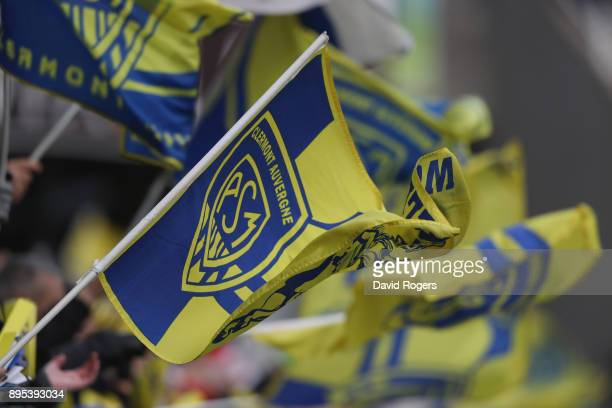 Clermont Auvergne fans during the European Rugby Champions Cup match between ASM Clermont Auvergne and Saracens at Stade Marcel-Michelin on December...