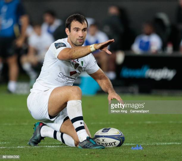 Clermont Auvergne's Morgan Parra during the European Rugby Champions Cup match between Ospreys and ASM Clermont Auvergne at Liberty Stadium on...