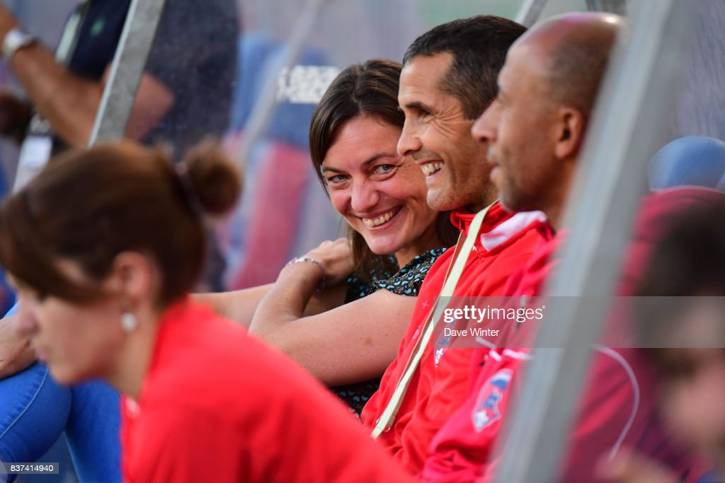 Clermont coach Corinne Diacre during the French League Cup match between Paris FC and Clermont Foot at Stade Charlety on August 22, 2017 in Paris, France.
