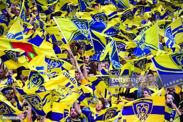 Clermont fans during the Top 14 Final between RC Toulon and Clermont Auvergne at Stade de France on June 4 2017 in Paris France