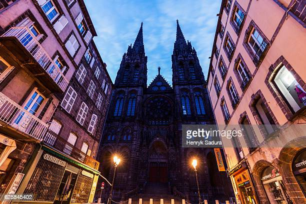Clermont-Ferrand Cathedral at night