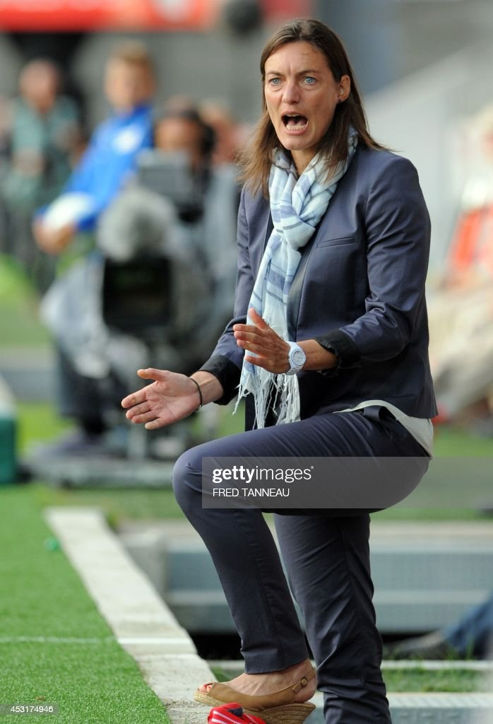Corinne Diacre, former Clermont Foot Head Coach. Before taking up her current role as head coach of the French national women's team, Corinne Diacre became the first woman to lead a men's professional team in a major European country.
