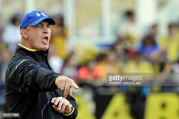 Clermont's NewZealand coach Vern Cotter is pictured before the French Top 14 rugby union match Clermont vs Grenoble on September 22 2012 at Marcel...