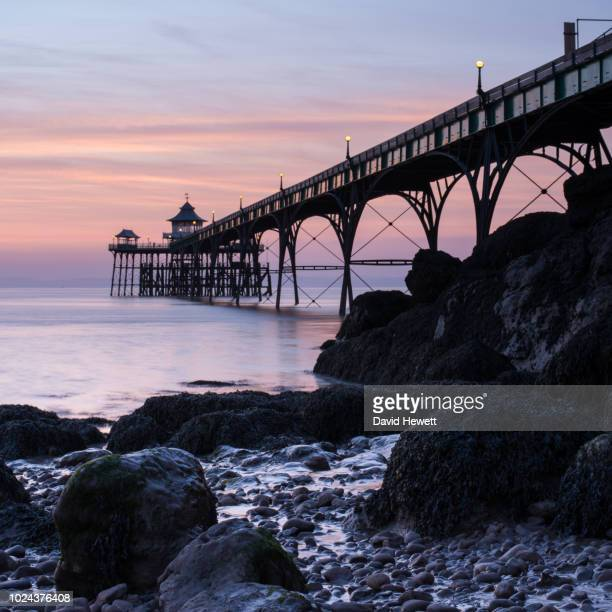 clevedon colours - clevedon pier stock pictures, royalty-free photos & images