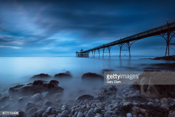 clevedon pier in clevedon, england. - somerset england stock pictures, royalty-free photos & images