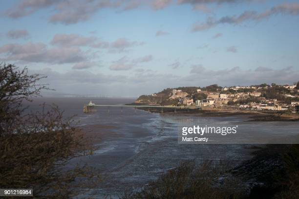 Clevedon pier is pictured in Clevedon on January 4 2018 in North Somerset England According to the property website Zoopla house prices in the...