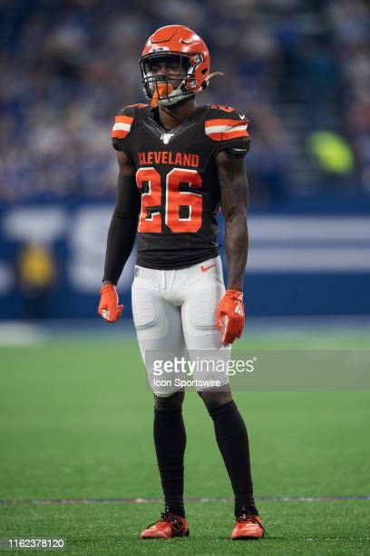 Cleveland Browns cornerback Greedy Williams in game action during the week 2 NFL preseason game between the Cleveland Browns and the Indianapolis...