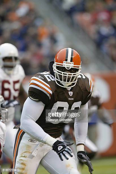 Cleveland Browns defensive end Courtney Brown during the Cleveland Browns 44-6 win over the Arizona Cardinals on .