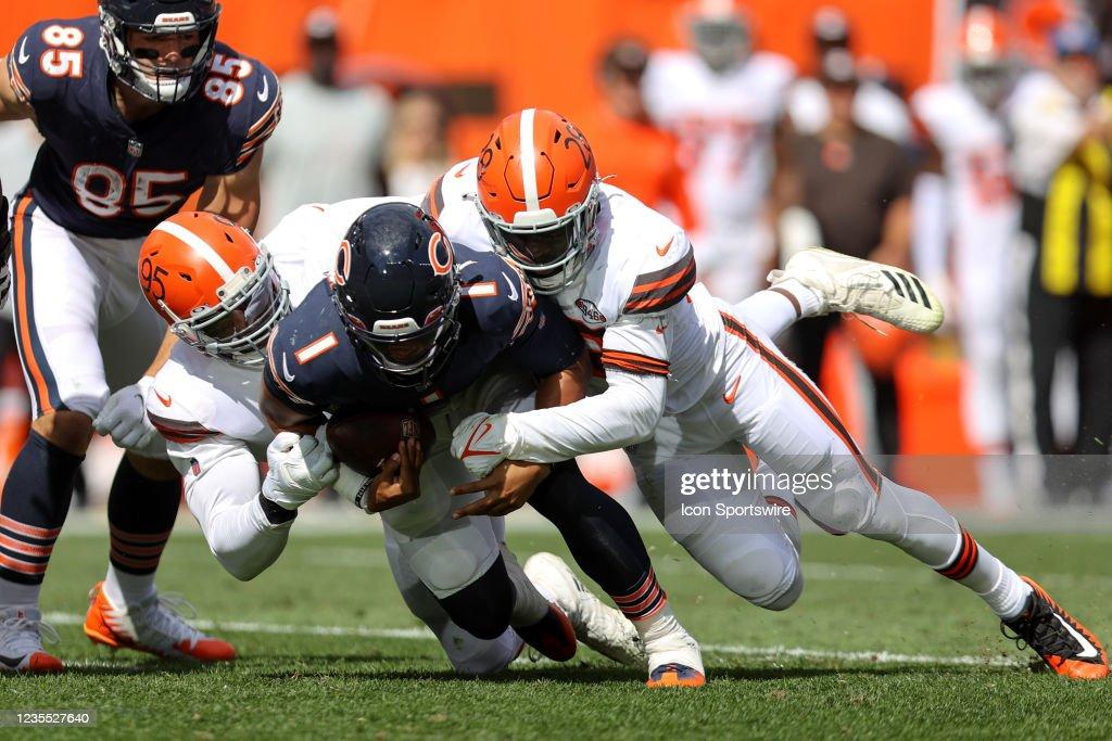 NFL: SEP 26 Bears at Browns : News Photo