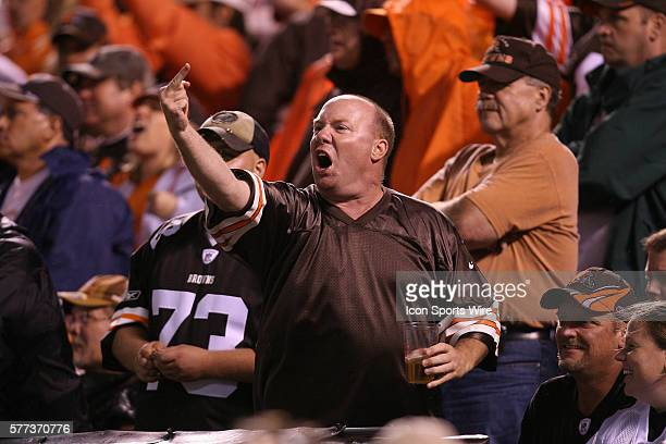 Cleveland Browns fans shows his anger as the Browns are defeated by the Pittsburgh Steelers in Cleveland Ohio September 14 2008