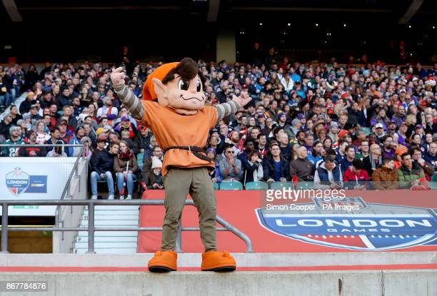 Cleveland Browns mascot Brownie the Elf during the International Series NFL match at Twickenham London