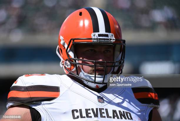 Cleveland Browns Offensive Guard Kevin Zeitler during the NFL football game between the Cleveland Browns and the Oakland Raiders on September 30 at...