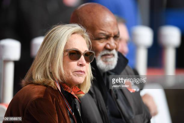 Cleveland Browns owner Dee Haslem before the game between the Cleveland Browns and the Los Angeles Chargers at FirstEnergy Stadium on October 14 2018...