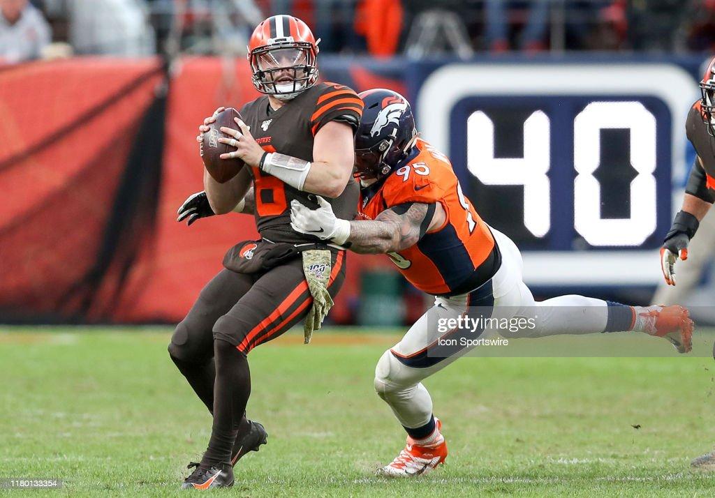 NFL: NOV 03 Browns at Broncos : News Photo