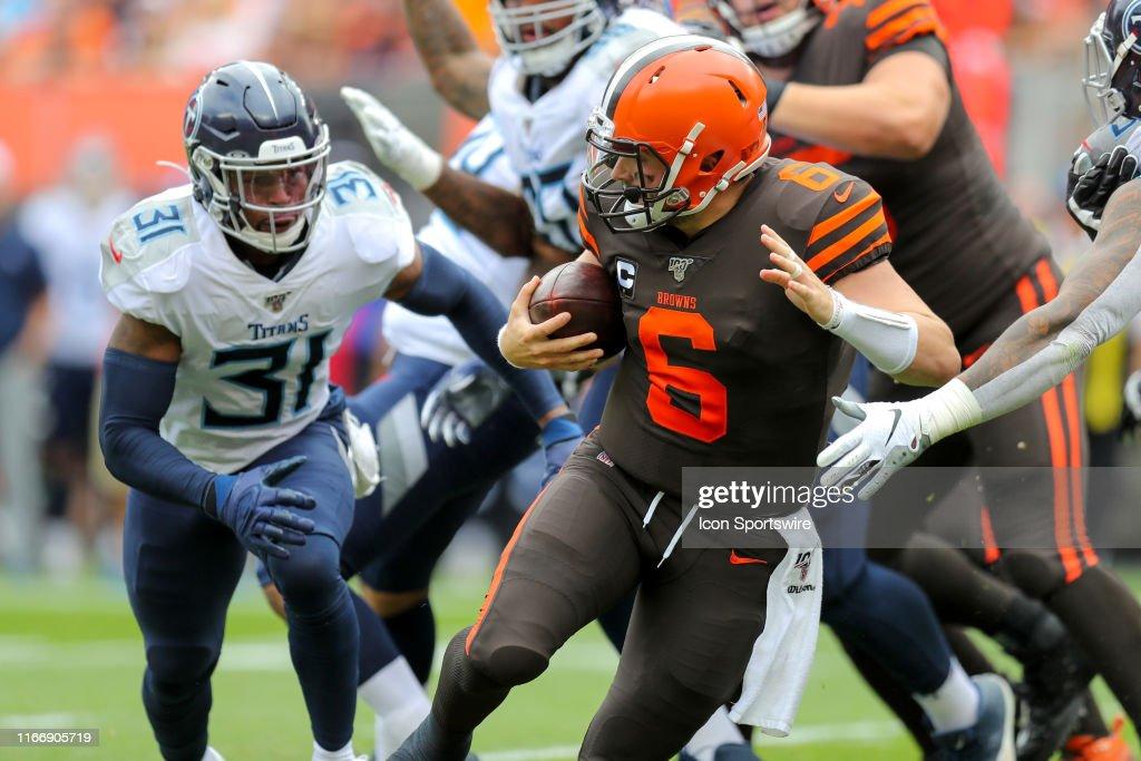 NFL: SEP 08 Titans at Browns : News Photo