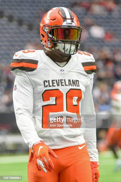 Cleveland Browns Running Back Duke Johnson warms up before the football game between the Cleveland Browns and Houston Texans on December 2 2018 at...