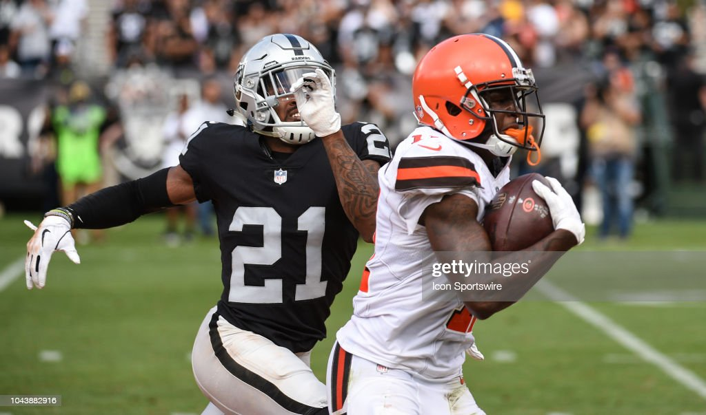 NFL: SEP 30 Browns at Raiders : News Photo