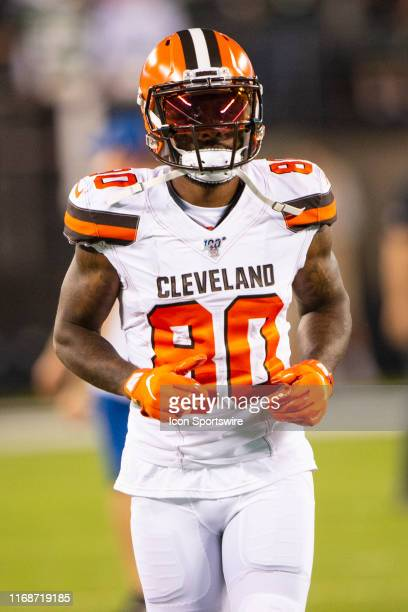 Cleveland Browns Wide Receiver Jarvis Landry prior to the game between the Cleveland Browns and the New York Jets on September 16 at MetLife Stadium...